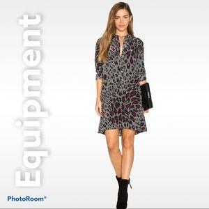 Equipment S silk Lucinda leopard print dress